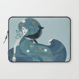 Aquatic Life of a Seaflower Laptop Sleeve