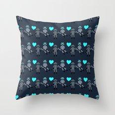 Sock Monkey Love Throw Pillow
