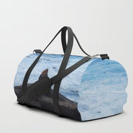 Ocean lover, meditation in front of the sea Duffle Bag
