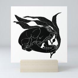 Seal Skull with Kelp Mini Art Print