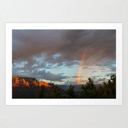 Sedona Rainbow Art Print