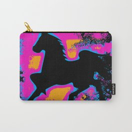 Colorful Western-style Horse Silhouette Carry-All Pouch
