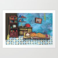cinderella Art Prints featuring Cinderella by Agnes Laczo
