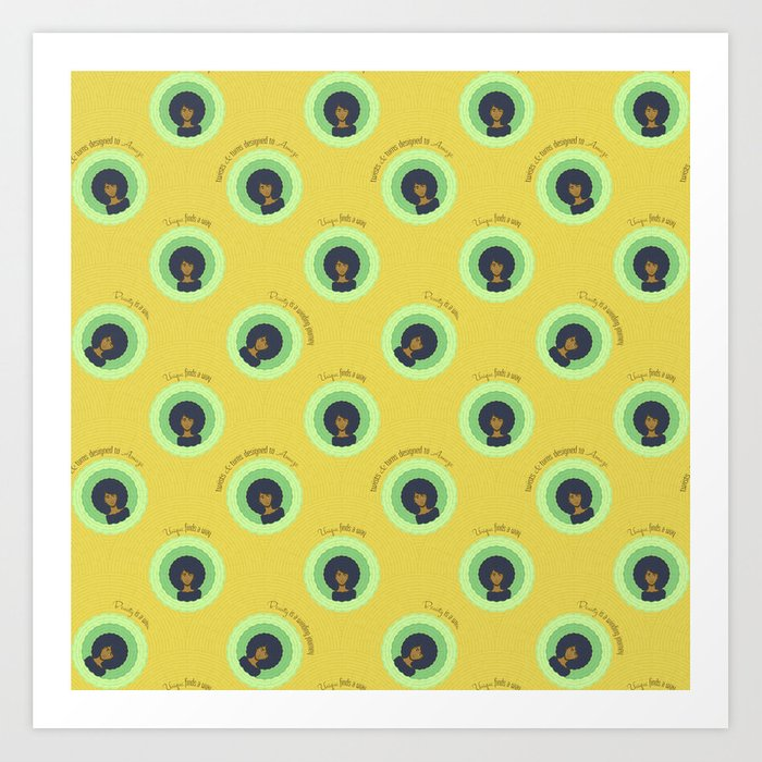Afro Maze Affirmations Small Kunstdrucke
