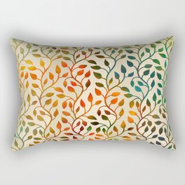 Pattern of Small Autumn Leaves Rectangular Pillow