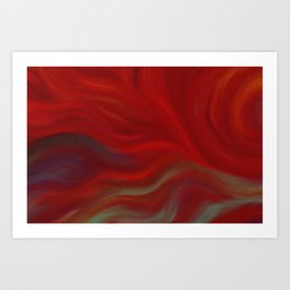 Wrapped in Red Art Print
