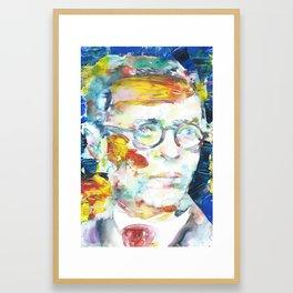 SARTRE - portrait.2 Framed Art Print