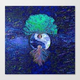 Tree of Life Yin Yang Earth Space Canvas Print