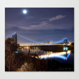 GWB with Moon (Color) Canvas Print