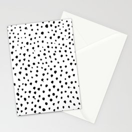 Dalmatian dots black Stationery Cards