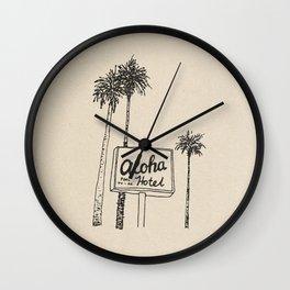 Aloha Hotel Wall Clock