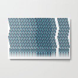 Cubist Ornament Pattern Metal Print