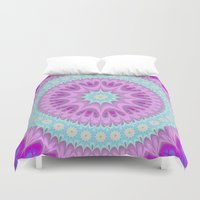 girly Duvet Covers featuring Girly mandala by David Zydd