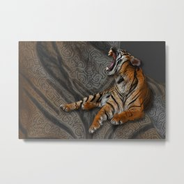 Indochinese tiger Metal Print