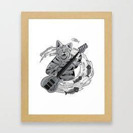 Meowsic Framed Art Print