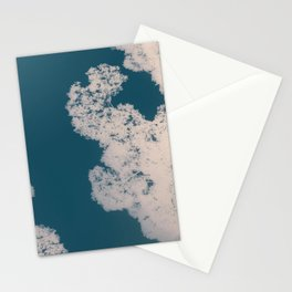 Blush pink and navy Forest sunrise Stationery Cards