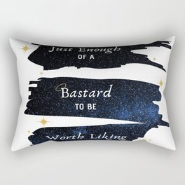 Just Enough Of A Bastard — Good Omens Fanart Rectangular Pillow