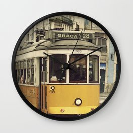 Tram numero 28 Wall Clock