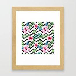 Tropical x Chevron x Islandlife Framed Art Print
