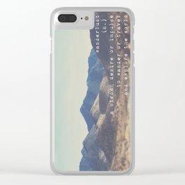 wanderlust ... Clear iPhone Case