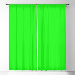 From The Crayon Box – Electric Lime - Bright Green - Neon Green Solid Color Blackout Curtain
