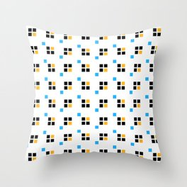 Three color enlarged pixel pattern Throw Pillow