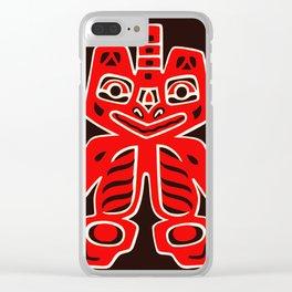 Haida Indians Alaska Blanket Design Clear iPhone Case