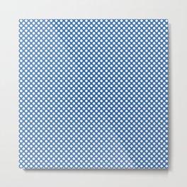 Palace Blue and White Polka Dots Metal Print