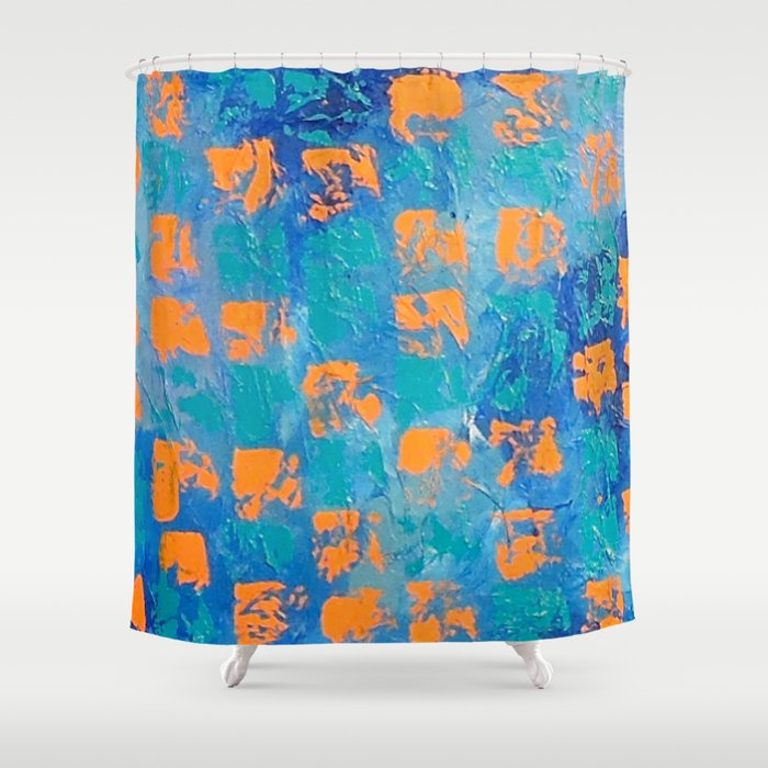 Abstract - True Blue Shower Curtain