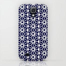 Asanoha Pattern - White on Navy iPhone Case