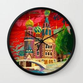 Church St. Petersburg Russia Wall Clock