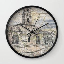 Iglesis de Santa Ana in Trinidad Wall Clock