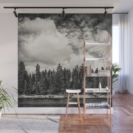 Far Away Clouds Passing By Wall Mural