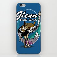 warcraft iPhone & iPod Skins featuring Glenn, Battle Ostrich by Siegeworks