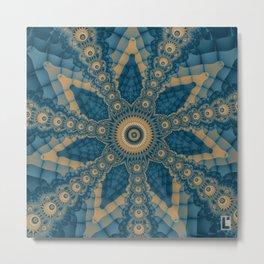 Star flower fractal Metal Print