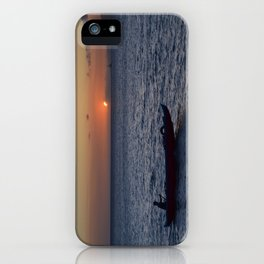 rowing through the maui sunset iPhone Case