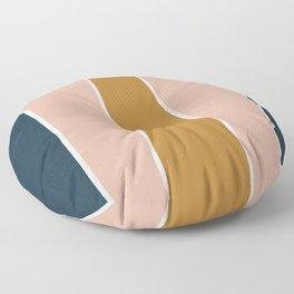 Retro Autumn Color Block Floor Pillow
