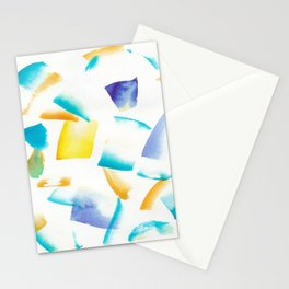 180719 Koh-I-Noor Watercolour Abstract 38 | Watercolor Brush Strokes Stationery Cards