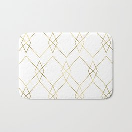 Gold Geometric Bath Mat