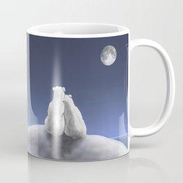 Polar Bears by Moonlight Coffee Mug