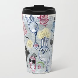 Swedish XMAS birds Travel Mug
