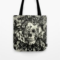 gothic Tote Bags featuring Victorian Gothic by Kristy Patterson Design