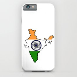 India Map with Indian Flag iPhone Case