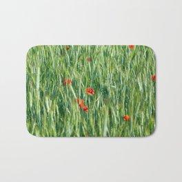 Poppy in the field Bath Mat