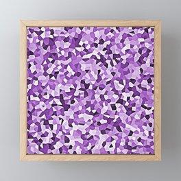 Purple Mosaic Abstract Pattern Framed Mini Art Print