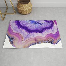 purple agate slice Rug