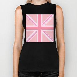 Pink Union Jack/Flag Design Biker Tank