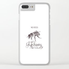 No Bees No Honey Clear iPhone Case