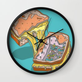 Grilled Cheesus Wall Clock