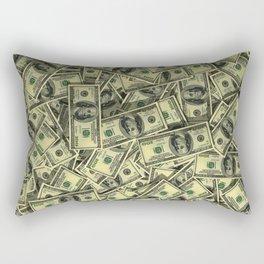 100 dollar cash get rich Rectangular Pillow